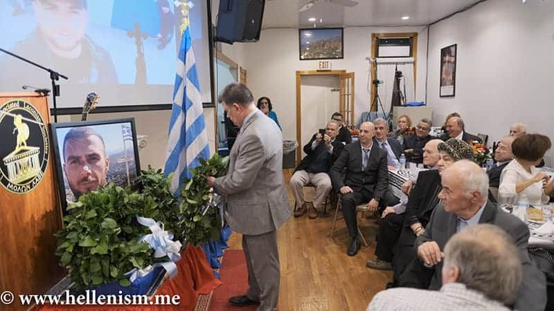 Honoring Event for Greek Hero Konstantinos Katsifas – Albanians harassing