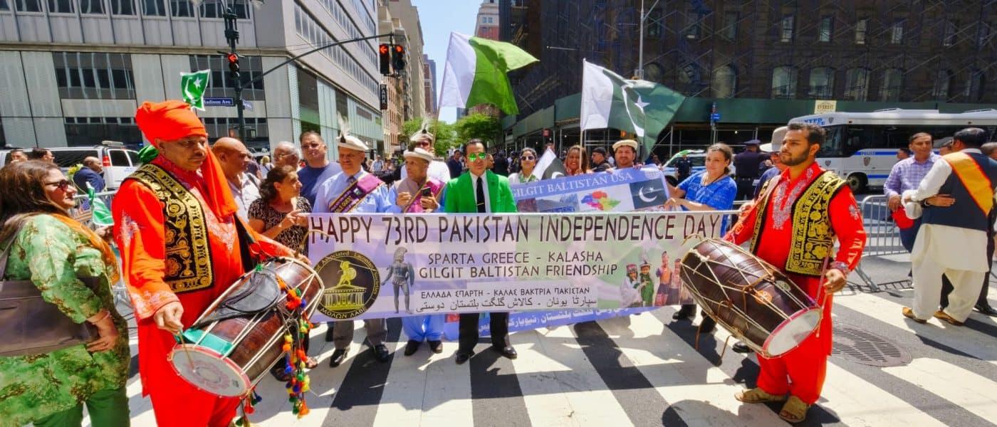 Laconians with Kalasha and Gilgit Baltistan at the Pakistan Parade